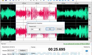 Wave editor — редактор звуковых файлов и как им пользоваться