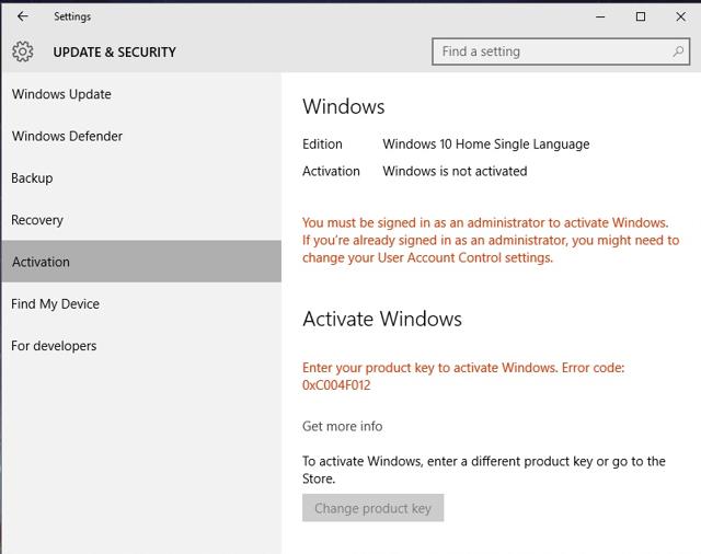 Ошибки активации windows (Виндовс) 10 и способы их устранения
