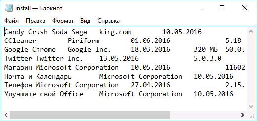 Как получить список программ, установленных на компьютере в windows