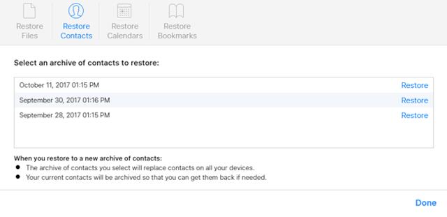 Как восстановить контакты на iphone из резервной копии