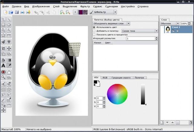 Обзор krita - бесплатного редактора для растровой графики