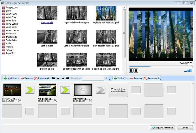 Создаем видеопереходы в ролике с помощью программы vsdc editor