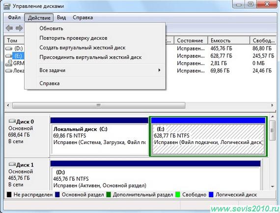 Обзор программ для открытия и работы с фалами vhd