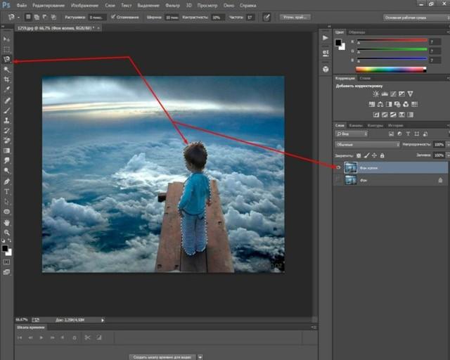 Три способа сделать картинку полупрозрачной в adobe photoshop