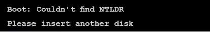 Что делать с ошибкой error ntldr is missing в windows 7