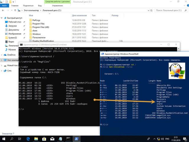 Как включить видимость скрытых файлов windows 10 — инструкция