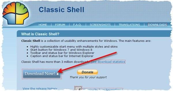 classic shell для windows - где скачать, как настроить