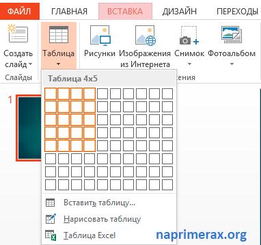 Как в Повер Поинте (powerpoint) сделать таблицу — инструкция