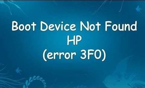 Ошибка hp boot device not found - что это значит и что делать