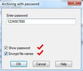 Установка пароля на архивный файл — подробная инструкция