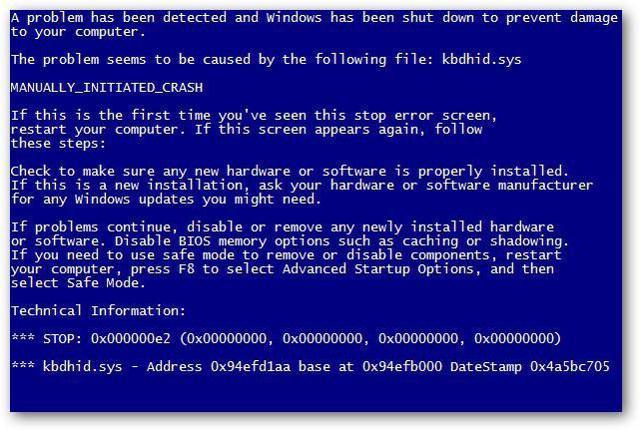 Часто появляется синий экран смерти в windows 7
