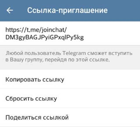Как скопировать ссылку в telegram на разных устройствах