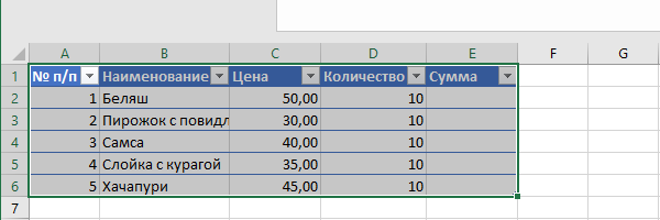 Умная таблица в excel (Эксель): создание и использование